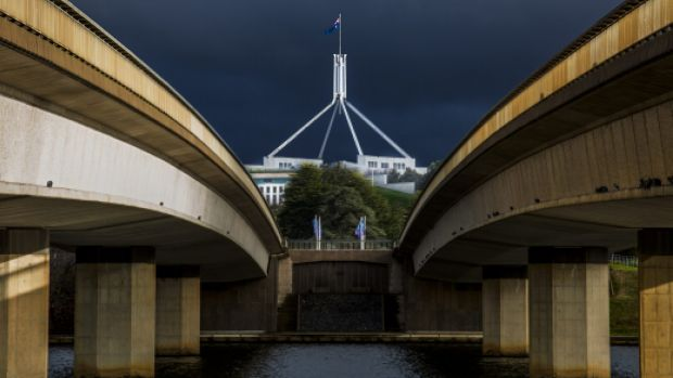 Parliament House from Commonwealth Avenue Bridge. The National Capital Authority could force the ACT government to ...
