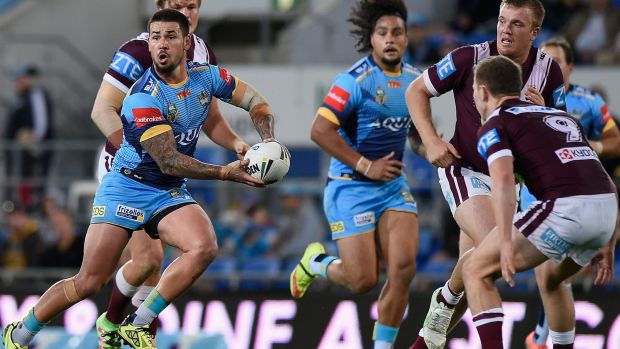 Mid-season switch: Ex-Eels rake Nathan Peats now plays for the Titans.