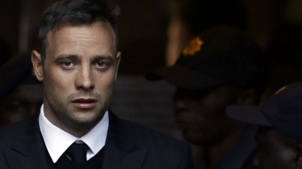 Oscar Pistorius leaves the High Court in Pretoria on Wednesday, June 15, after his sentencing proceedings.