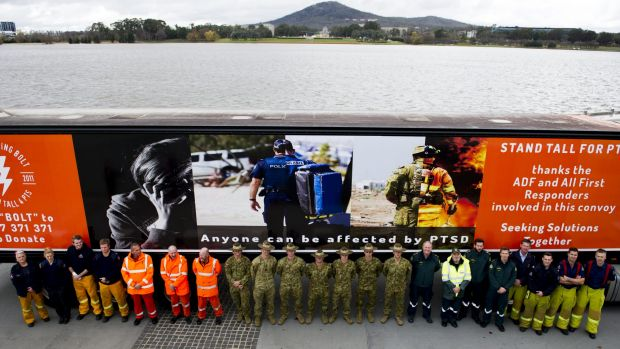 The convoy was supported by the military and ACT emergency services.