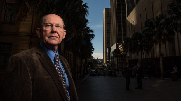 Graeme Frazer after giving evidence at the royal commission.