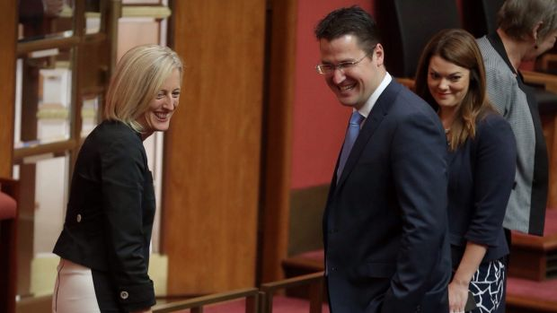 Labor Senator Katy Gallagher and Liberal Senator Zed Seselja - the Liberals are bringing the ACT tram into play in the ...