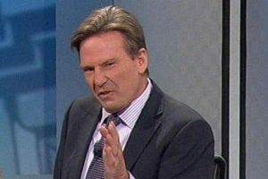 Sam Newman on the <i>Footy Show</i>.