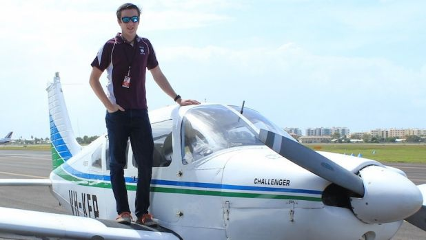 Sunshine Coast teenager Lachlan Smart is attempting to become the youngest person to fly solo around the world.