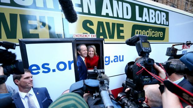 Risky gamble: Labor spent the last fortnight of the campaign almost entirely on Medicare.