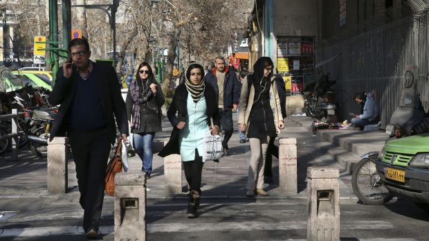 "A street in central Tehran. ""People are friendly and helpful, and it's far more liberal than I'd expected."""