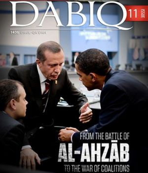 In Islamic State's sights: Turkish President Recep Tayyip Erdogan with his US counterpart Barack Obama on the cover of ...