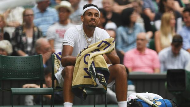 "Nick Kyrgios: ""As soon as I lost the first set, I just lost belief. Obviously felt like a mountain to climb after losing ..."