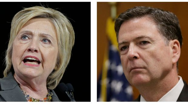 Hillary Clinton and FBI Director James Comey.