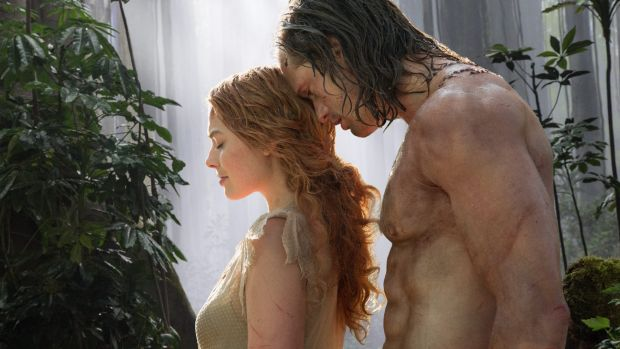 Margot Robbie and Alexander Skarsgard in the film <i>The Legend of Tarzan</i>, which has been panned by critics and is ...