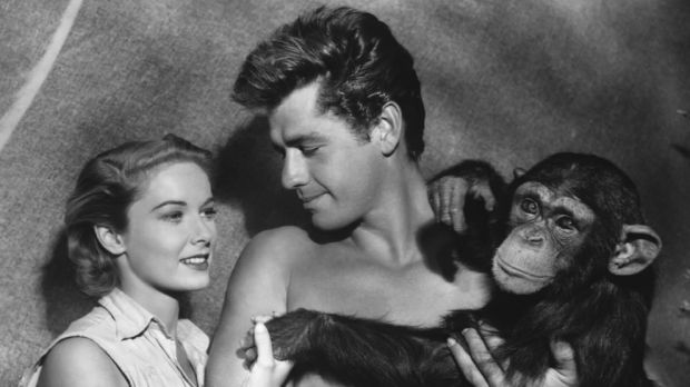 In this photo released in 1955 by RKO, Gordon Scott, the screen's eleventh Tarzan, makes his debut as Tarzan in ...
