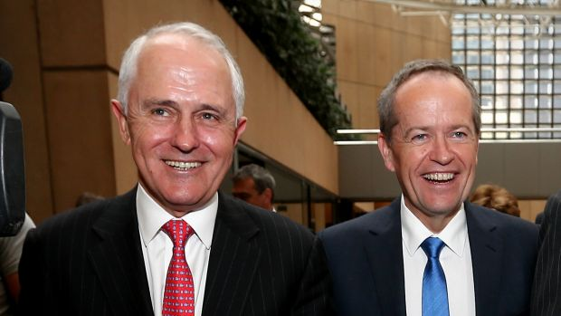 Liberal Party leader Malcolm Turnbull and Labor Party leader Bill Shorten during the election campaign.