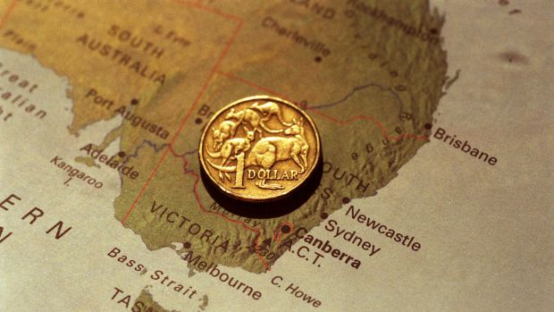 The Aussie dollar is trading at one-month highs against the greenback.