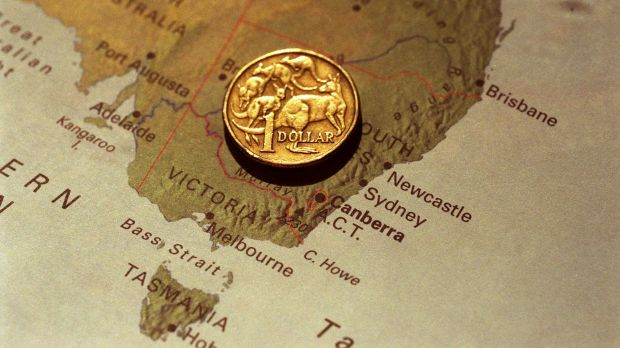 The Australian dollar has risen to be close to US80c.