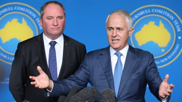 'It was a decision of Cabinet': Barnaby Joyce said Malcolm Turnbull did not make a captain's pick on Kevin Rudd.