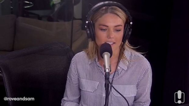 Sam Frost speaking about her depression to Rove McManus.