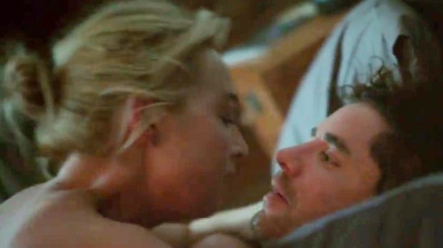 Asher Keddie's sex scene with her real-life husband Vincent Fantauzzo was one of the raunchiest scenes in ...