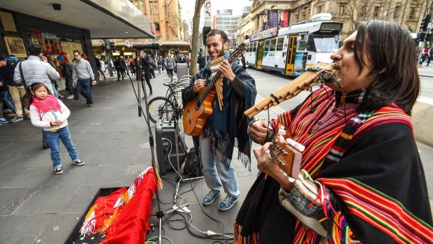 Buskers are going to be banned from using amplifiers when performing on Swanston Street.