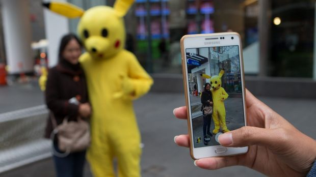 Scavenger hunt: Pokemon Go's augmented reality allows players to locate and collect fictional creatures in the real world.