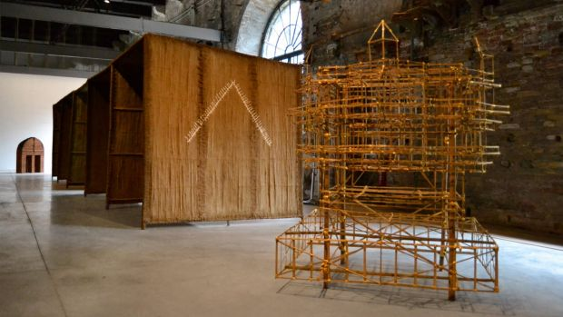 Studio Mumbai's 2016 Venice architecture biennale installation made from bamboo and lime hints at the M Pavilion design ...