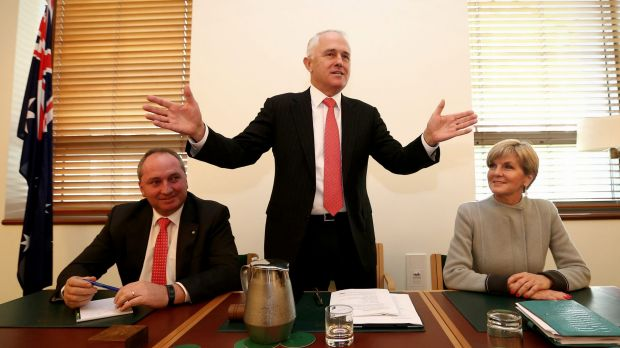 """Prime Minister Malcolm Turnbull says he occupies the """"sensible centre""""."""