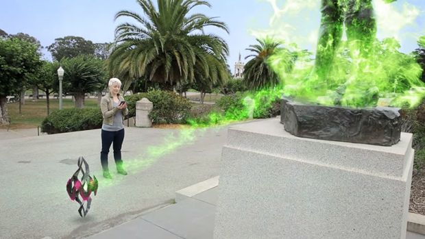AR overlays digital animations onto the real world using your phone's camera.