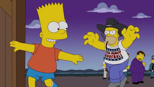 Donald Trump Campaign Eerily Mirrors The Simpsons Episode - Simpons us map vs real voters map
