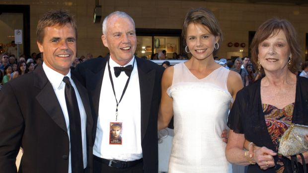 He was a regular on red carpets, pictured here in 2003 with Antony, Antonia and Janelle Kidman at the Australian ...