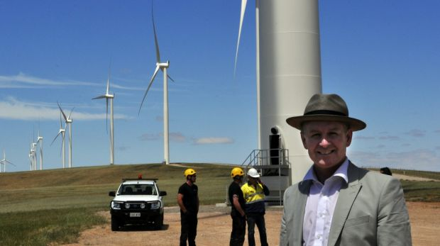 South Australia derives more than 40 per cent of its power from wind and solar energy and Premier Jay Weatherill ...