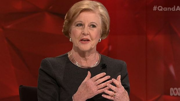 President of the Australian Human Rights Commission, Gillian Triggs, on the ABC's Q&A program on Monday.