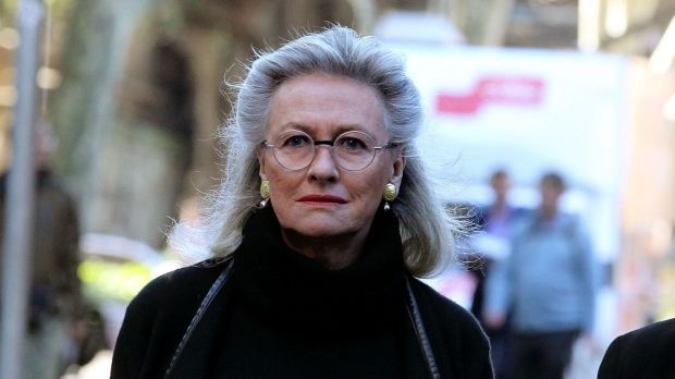 Harriet Wran's mother, Jill Wran, arrives at the NSW Supreme Court on Tuesday.
