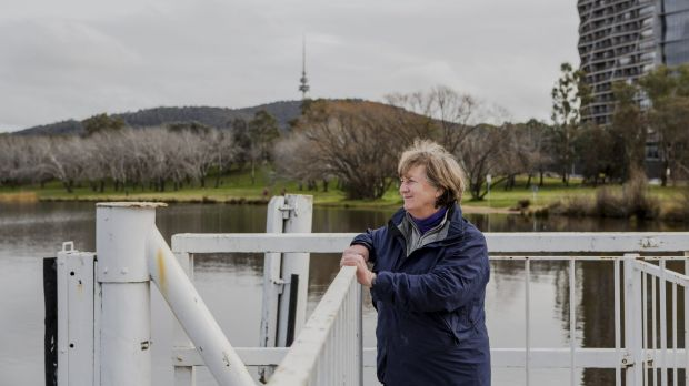 The Lake Burley Griffin Guardians, including convener Juliet Ramsay, are concerned about the redevelopment of parts of ...