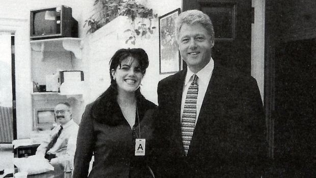 President Clinton and White House intern Monica Lewinsky. Clinton's liaison with Lewinsky started while the government ...