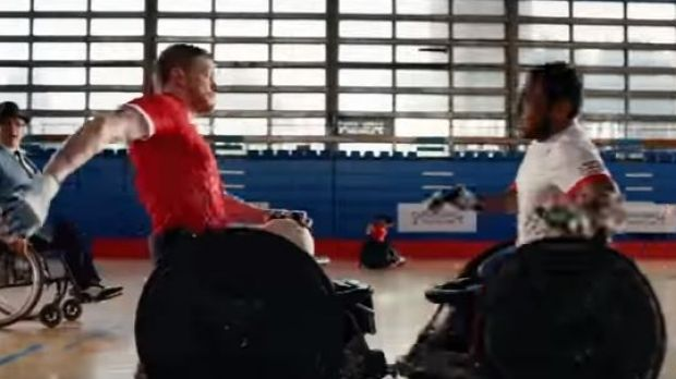 "A still from the ""We are the Superhumans"" Paralympic ad."
