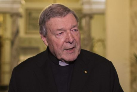 Cardinal George Pell, speaking in Italy last year.