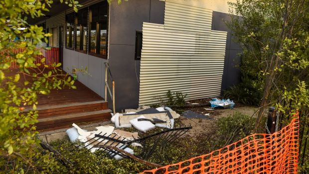 Damage at St Francis Xavier College in Berwick.