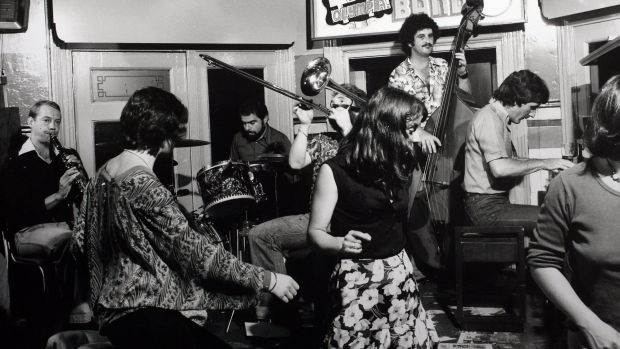 In the beginning ... Walford on piano with Don Heap (bass) and Paul Furniss (clarinet) in 1974.