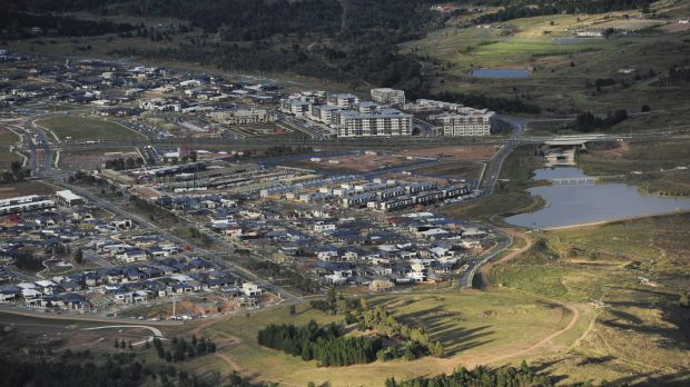 The Molonglo suburbs of Coombs and Wright.