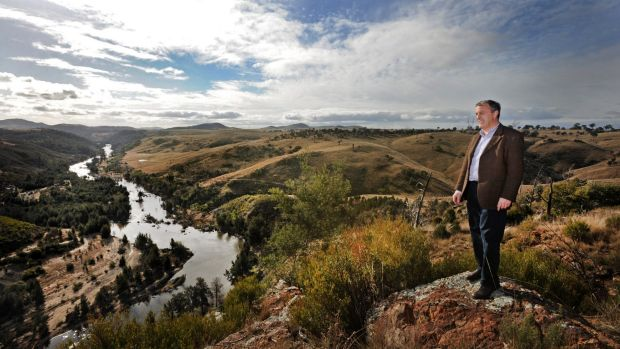 David Maxwell from the Riverview Group at the site of a proposed housing development near the Murrumbidgee River.