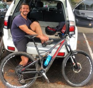 Gareth Clear was riding in Manly on Sunday.
