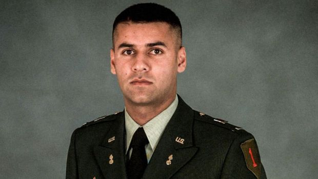 US Army Captain Humayun Khan was killed when he tried to stop two suicide bombers outside his base in Baquabah, Iraq, in ...
