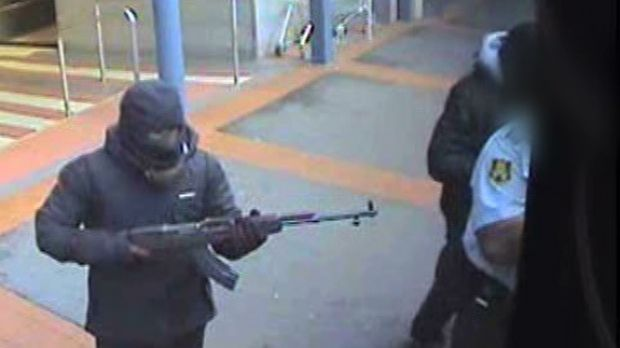 CCTV captured the armed hold-up of a cash-in-transit van at Broadway Shopping Centre in Glebe on March 4, 2013.