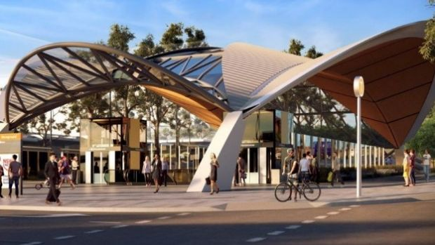 How the Showground Station at Castle Hill could look.