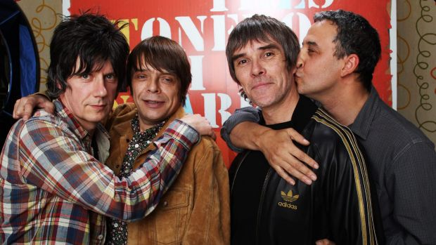 Reformed: The Stone Roses, from left, John Squire, Mani, Ian Brown and Reni.