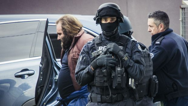 Some of the protesters are associates of Phillip Galea who appeared in court on Monday accused of planning deadly ...
