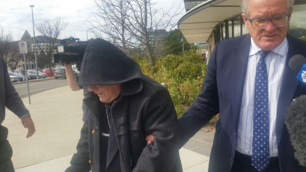 Brother John Kostka Chute leaves the ACT Magistrates Court after his committal last August.
