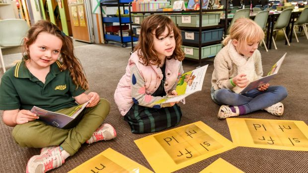Westgarth Primary School students learn to read using phonic sounds.