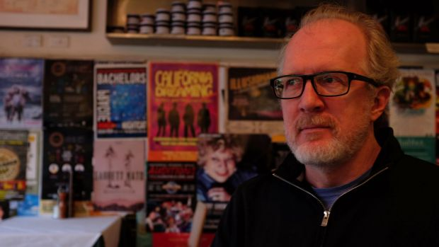 Tracy Letts, at Marios Cafe, Brunswick Street, Fitzroy.