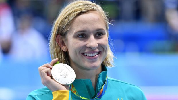Breach notice: Madeline Groves with her silver medal  for the women's 200m butterfly at the Rio Olympics.