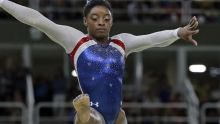 United States' Simone Biles performs on the balance beam during the artistic gymnastics women's individual all-around ...